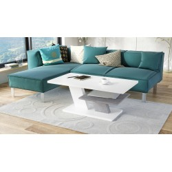 CLIFF MAT alb + beton, masă...