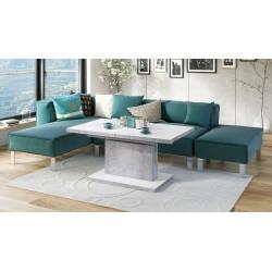 ASTON alb / beton, pliere, masă de conferință de ridicare, masă
