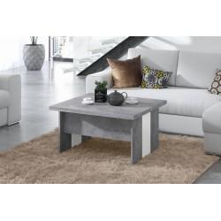 SOLO beton / alb, pliere, ridicare, masă de cafea