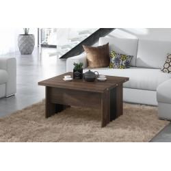 SOLO stejar brun / negru, pliere, ridicare, masă de cafea