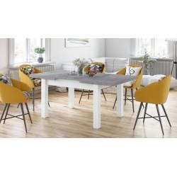 ROYAL Beton Millenium/Alb Mat, MESE DE BUCĂTĂRIE, masă pliabilă pentru 8 persoane