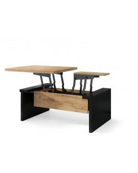 copy of SPACE beton / bílá, rozkládací konferenční stolek, výškově nastavitelný